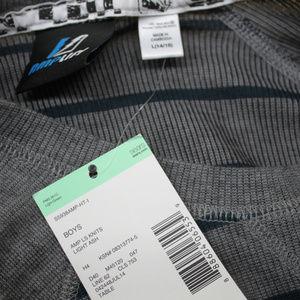 AmpLift Shirts & Tops - Amp Boy's 14/16 L Long Sleeve Grey Stripe Sweater